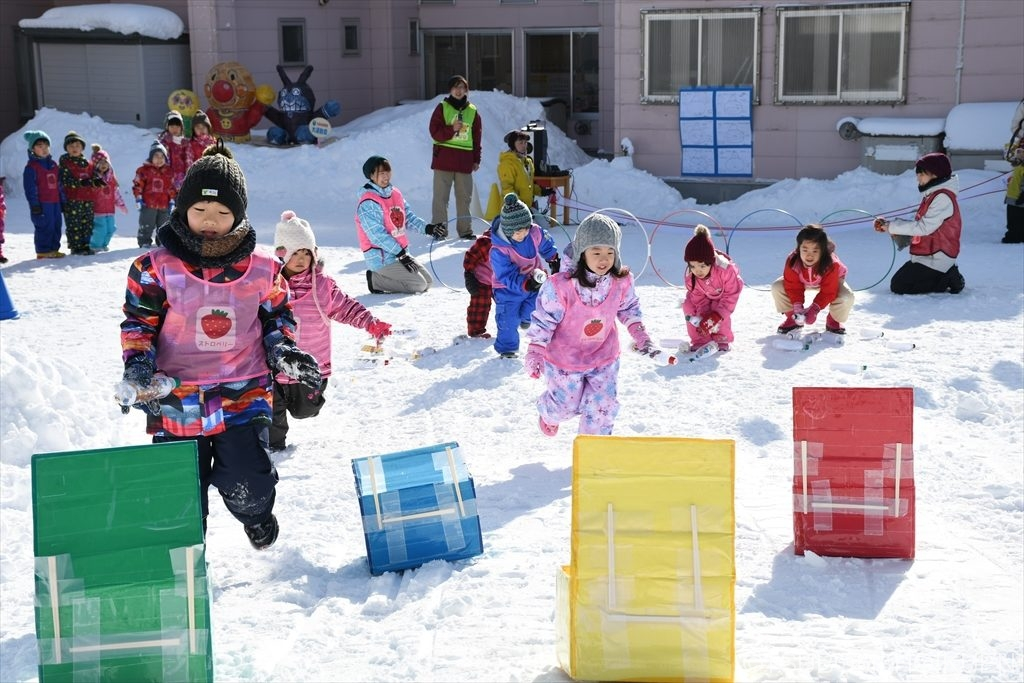 平昌(ピョンチャン)オリンピックに続け!冬も元気な体づくり、雪上運動会